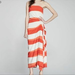 Alive and Olivia Orange Stripe Maxi Dress Size 4